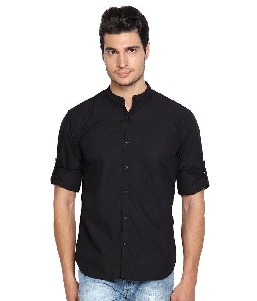 Highlander Black Slim Fit Shirt Buy Highlander Black