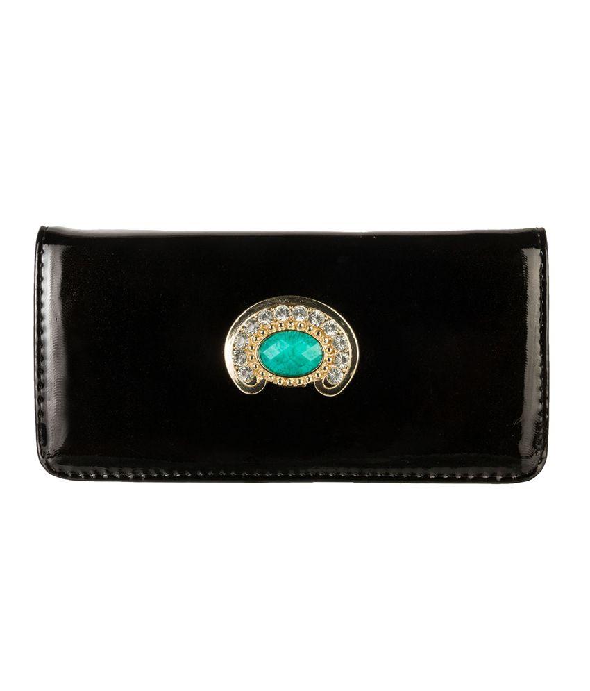 Louise Belgium Blue Magnit Button Clutch