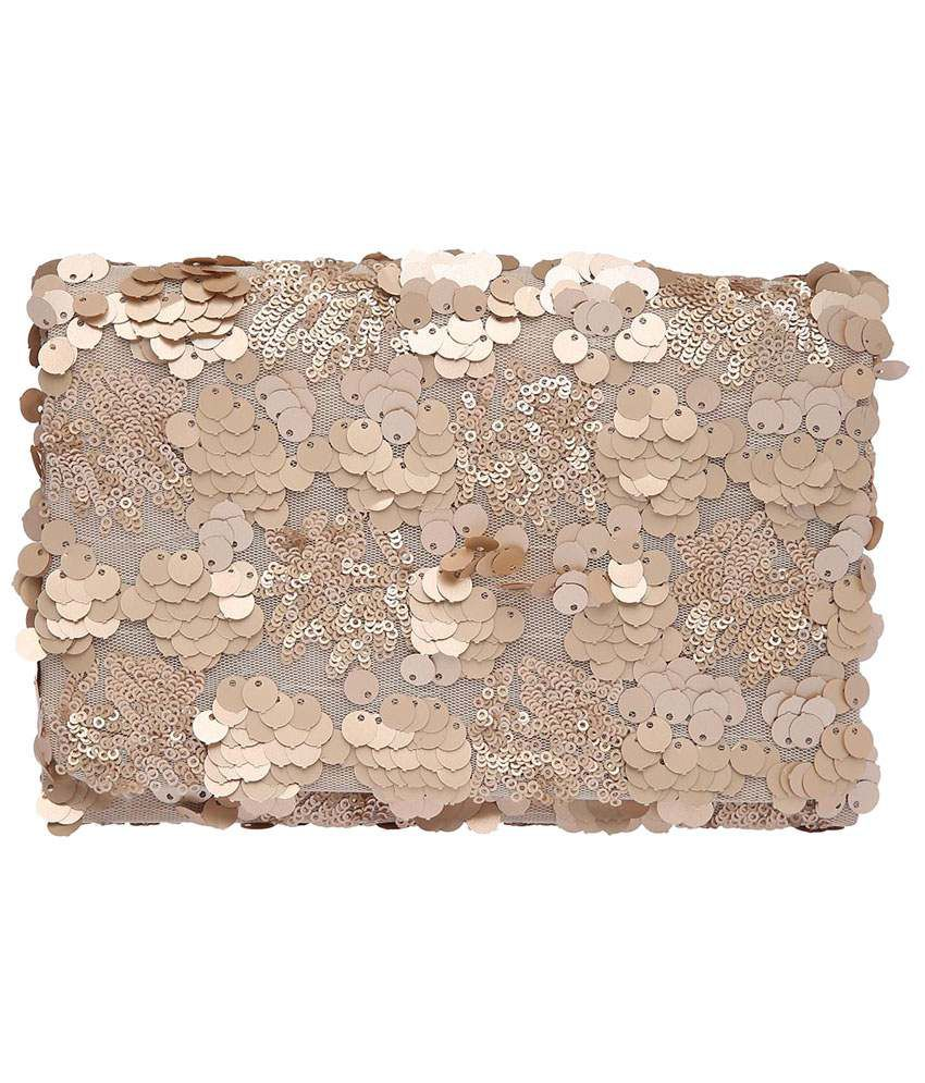 RS By Rock Star  Golden Clutch for Women