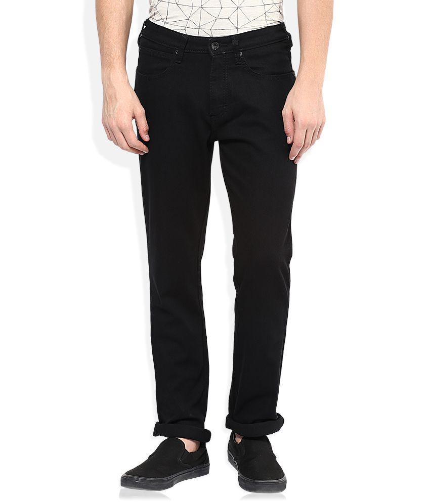 Wrangler Black Regular Fit Jeans