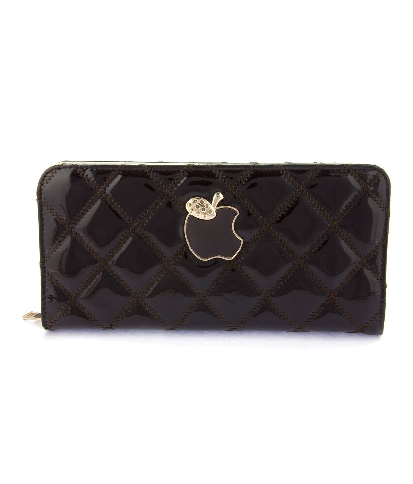 Iva Polyester Brown Regular Clutch For Women