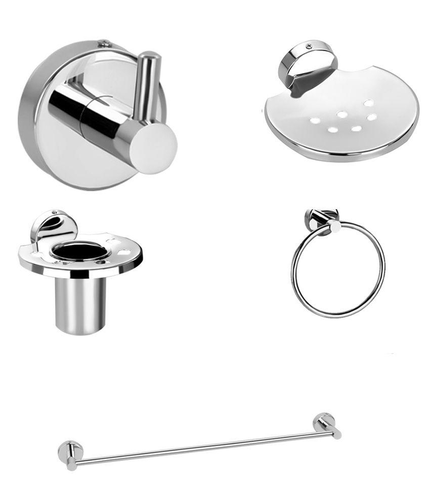 Buy sisko premium series bathroom accessories sets of 5 for Bathroom accessories set india