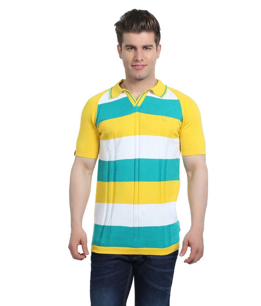 Stride Gold Cotton T-Shirt