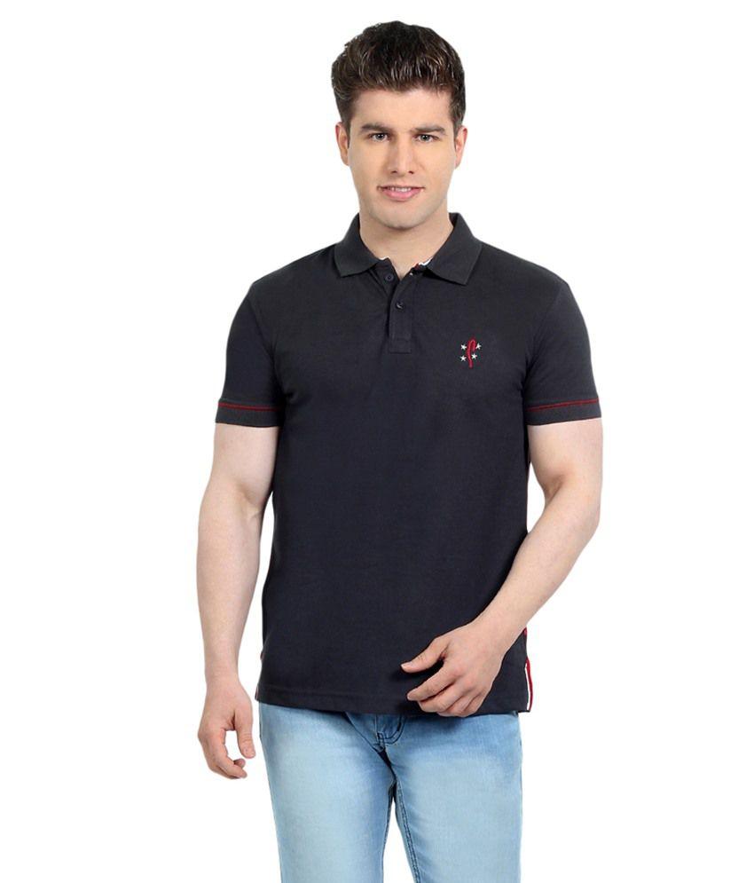 Stride Grey Cotton T-Shirt