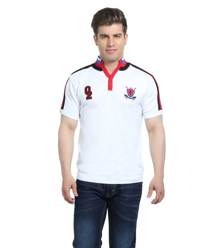 Stride White Cotton T-Shirt