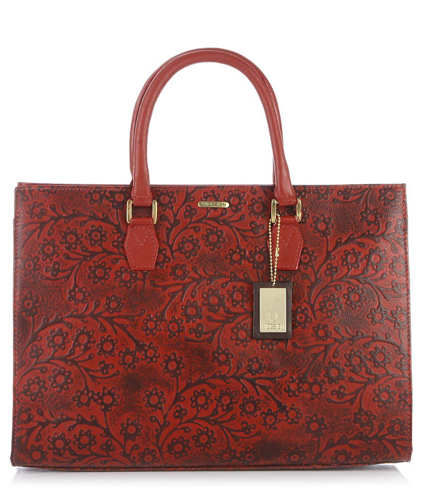 Hidesign Kester Red Leather Tote Bag
