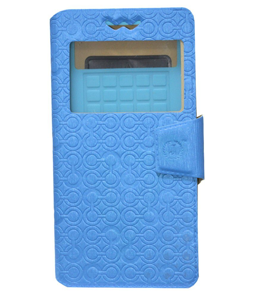 Jo Jo Flip Cover For Karbonn S1 Titanium Exotic   Blue available at SnapDeal for Rs.590