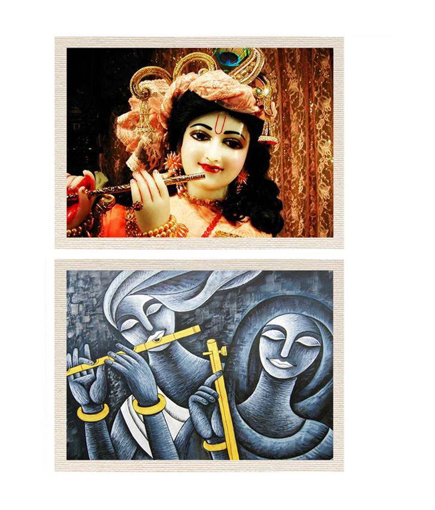 80 off on mesleep lord sri krishna radha krishna canvas painting