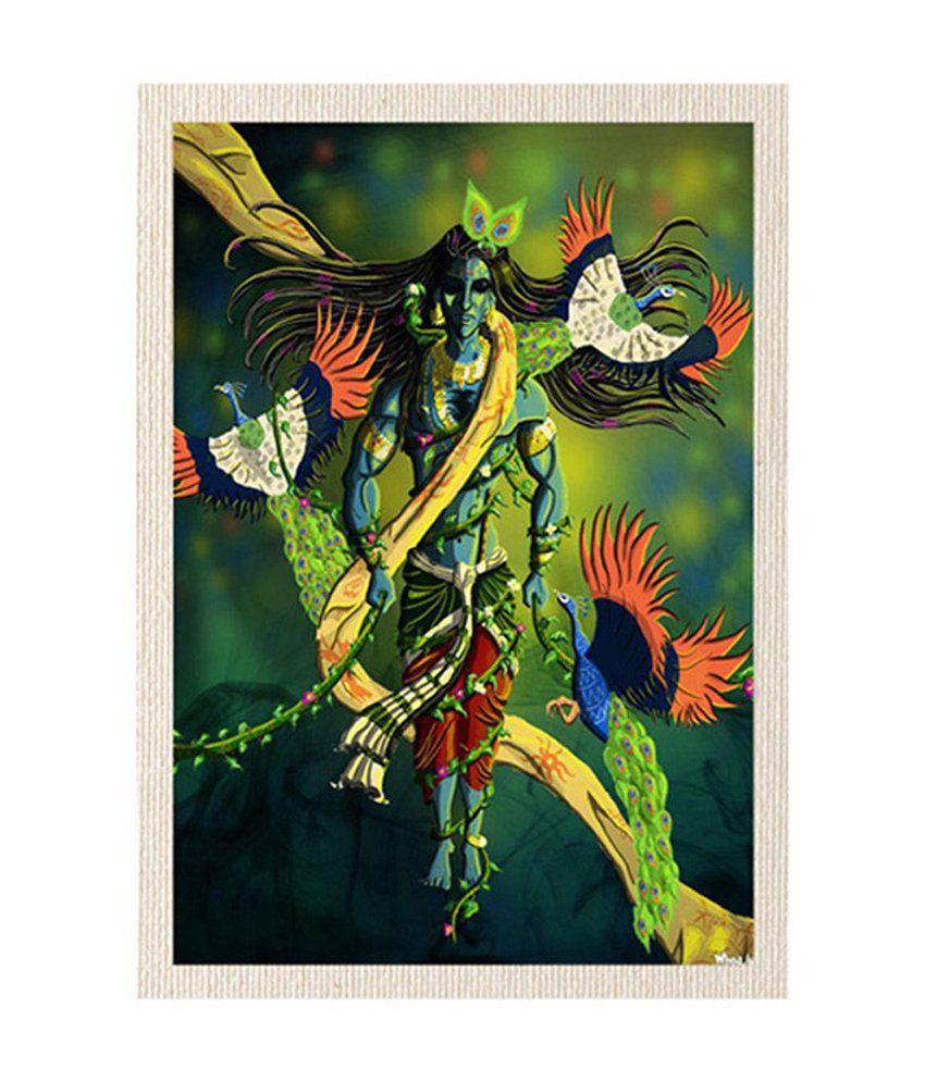 MeSleep Shree Ganesha and Lord Shiva Canvas Painting without Frame - Combo