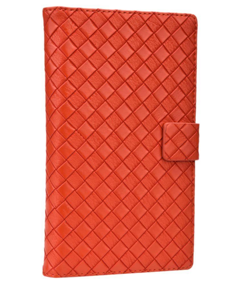 Jo Jo Flip Cover For Celkon Millennium Ultra Q500 - Orange