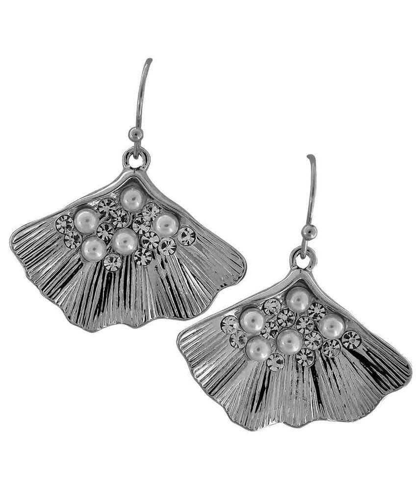 Maayra Silver Alloy Hanging| Dangle Earrings