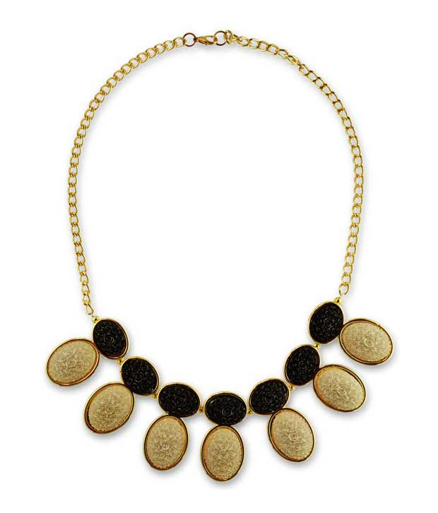 Pinklemon Golden Festive Wear Necklace