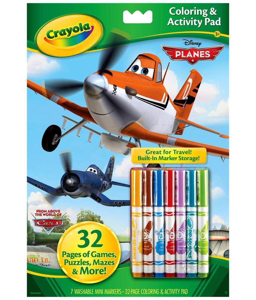 Crayola Disney Planes Colouring & Activity Book: Buy Online at Best ...