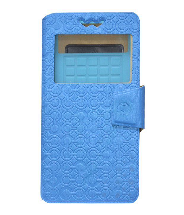 Jo Jo Flip Cover For Karbonn Smart A12 Star - Blue With ...