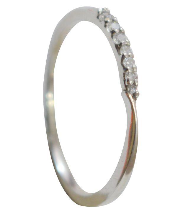 Kataria Jewellers Swarovski Ring In 92.5 Bis Hallmarked Sterling Silver