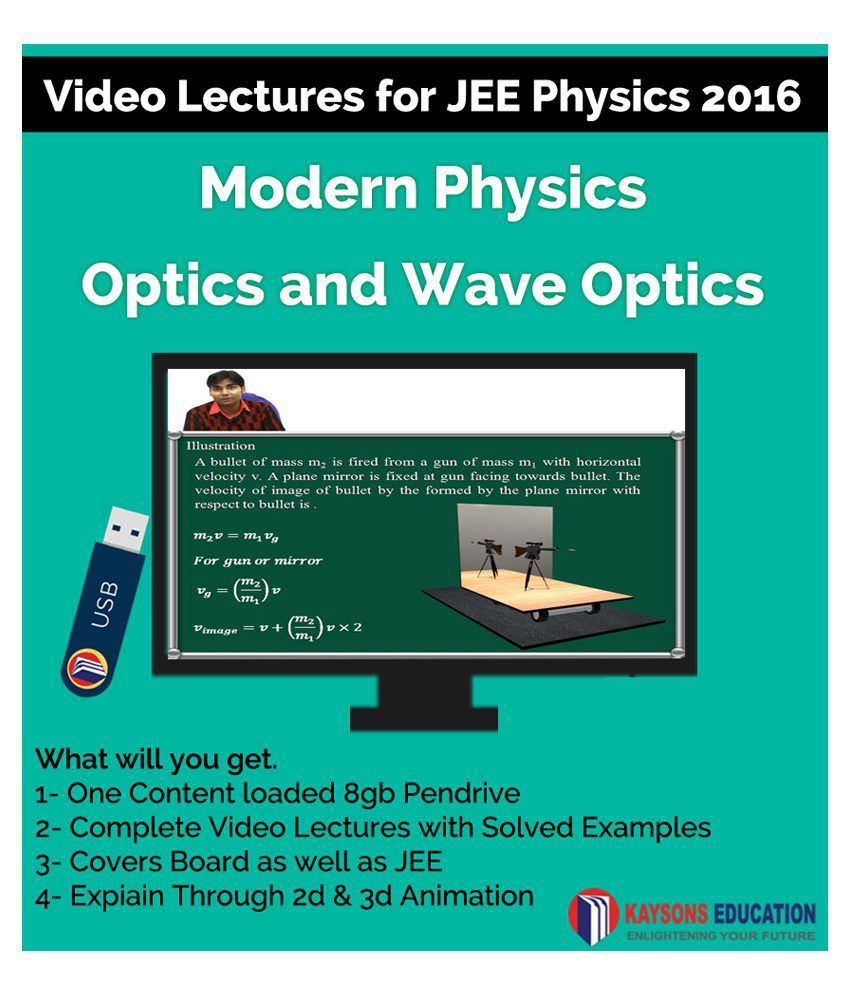 Kaysons Modern physics and Optics Video Lectures for JEE Mains and Advance in Pendrive/Micro Sd Card By IITians