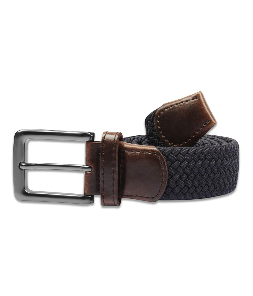 Zobello Blue Casual Single Belt For Men