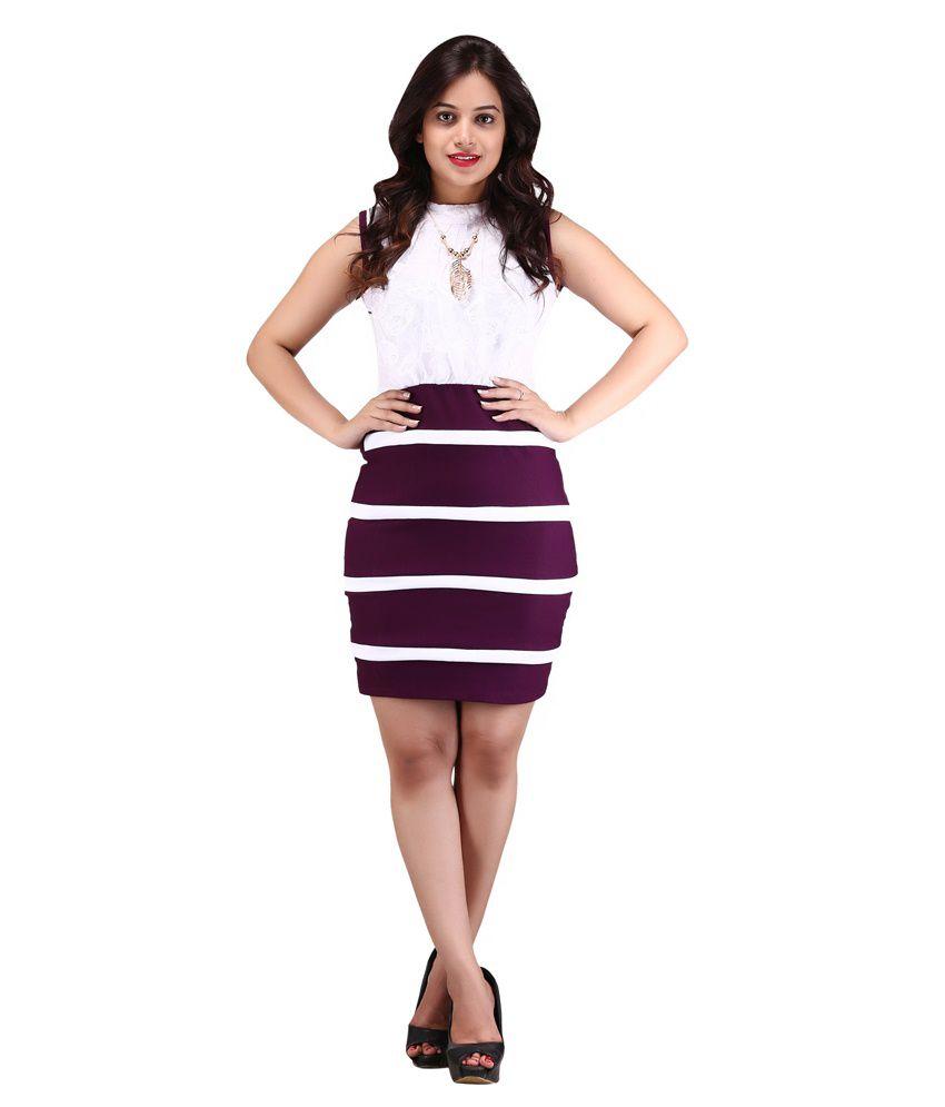Parley White Cotton Blend Dresses