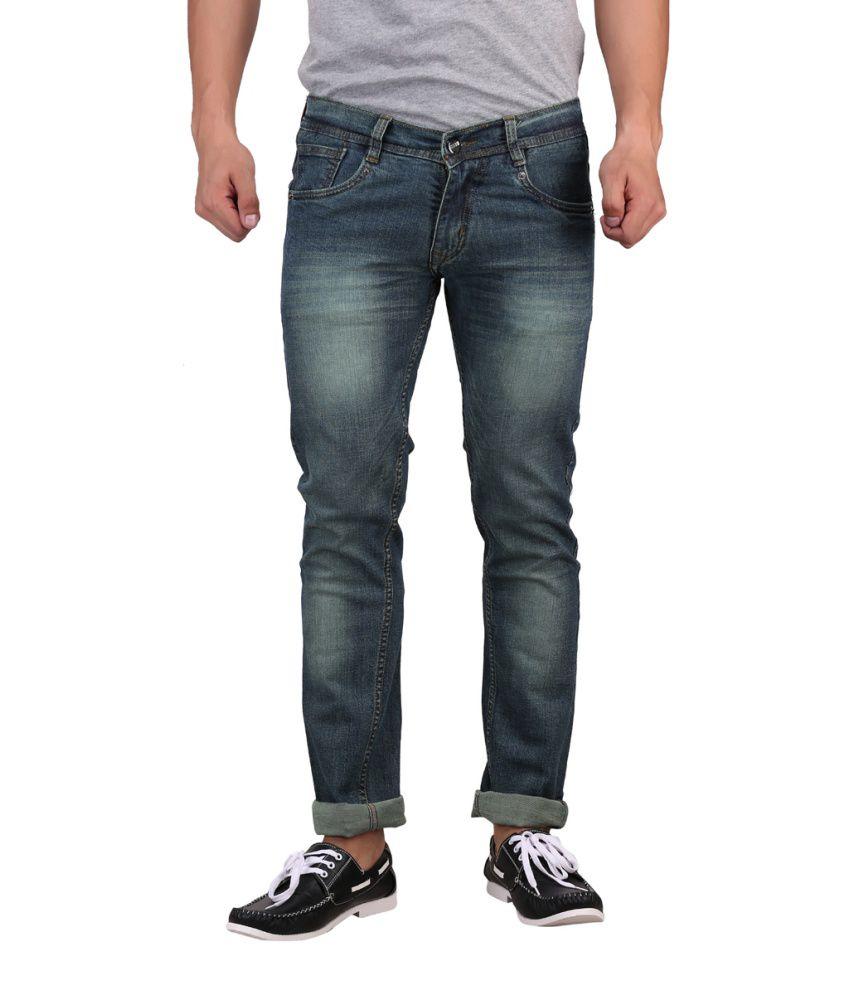 X-CROSS Green Cotton Blend Regular Fit Jeans