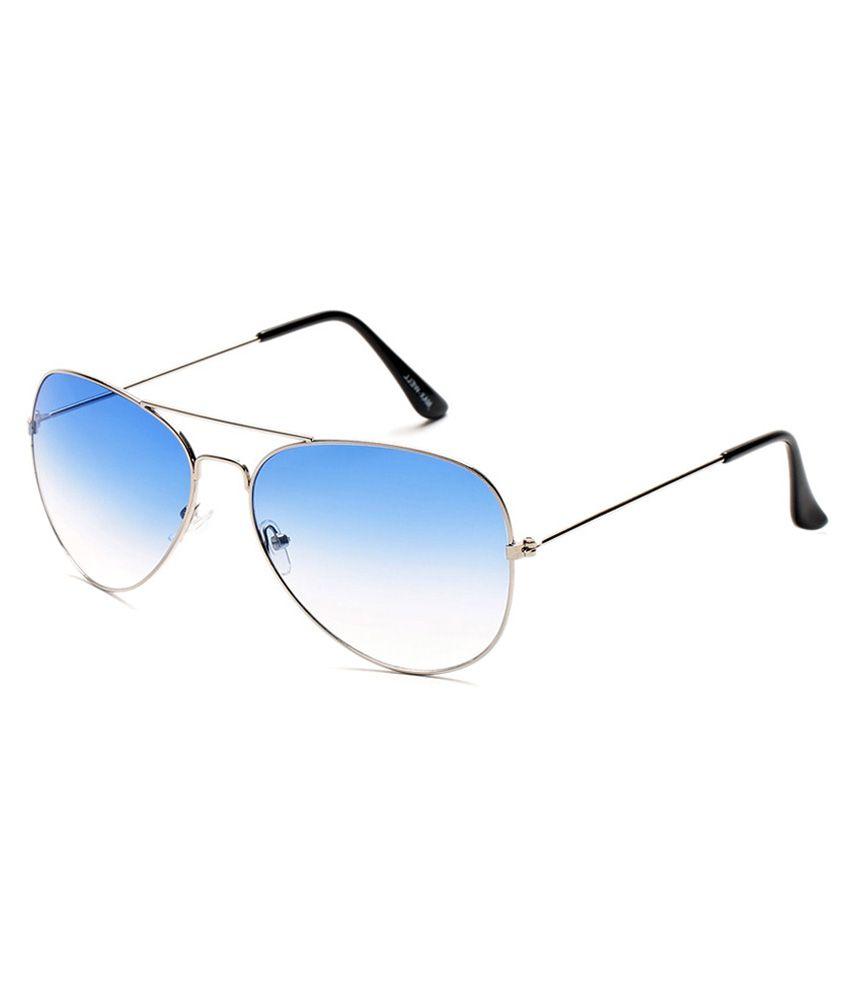 Kart Silver Metal Aviator Sunglasses