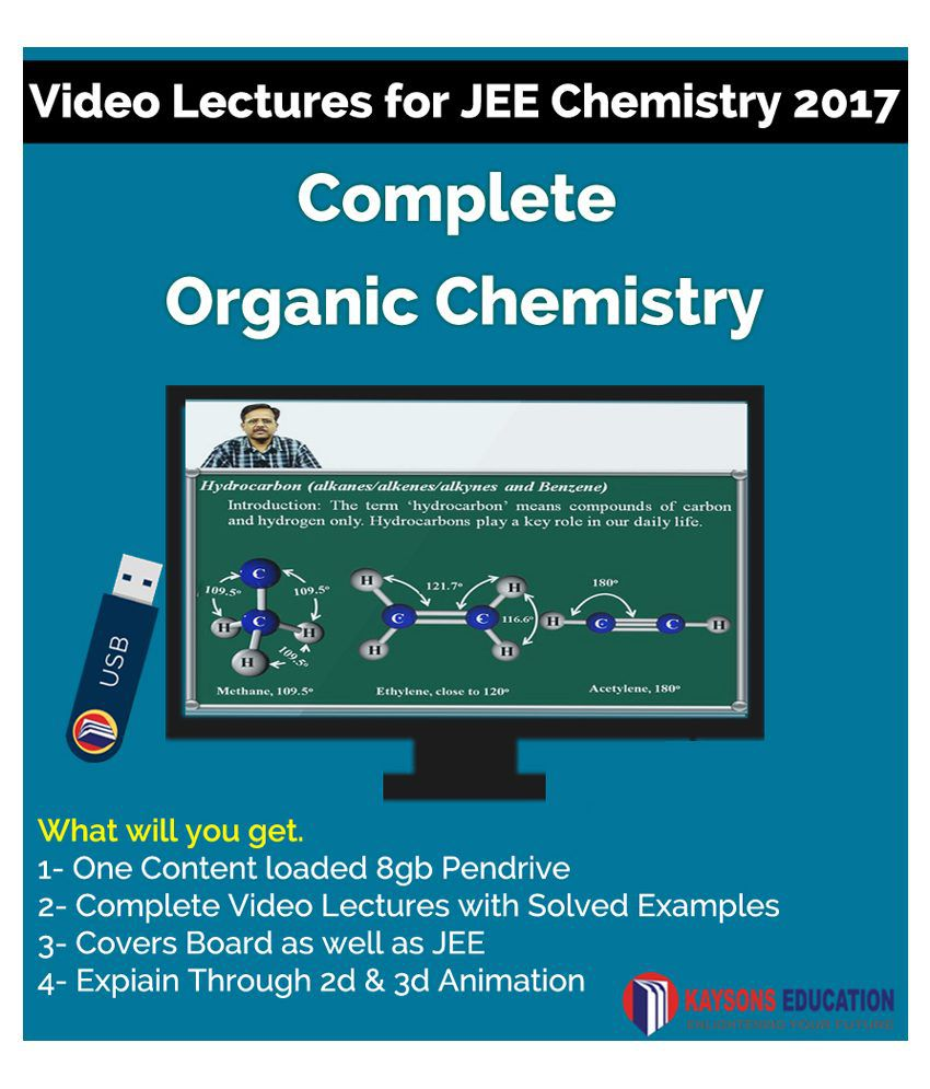 Kaysons Organic Chemistry Video Lectures for JEE Mains and Advance in Pendrive/Micro Sd Card By IITians with 17 years of Exp.