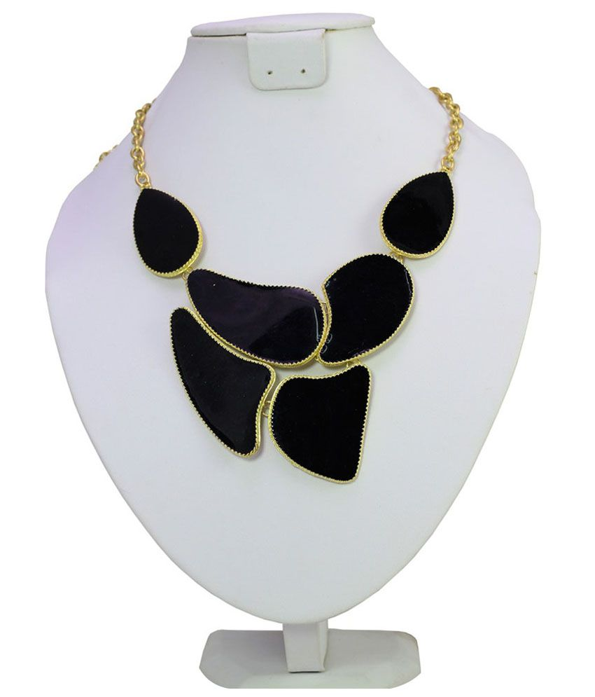 Shilpi Handicrafts Black Contemporary Necklace