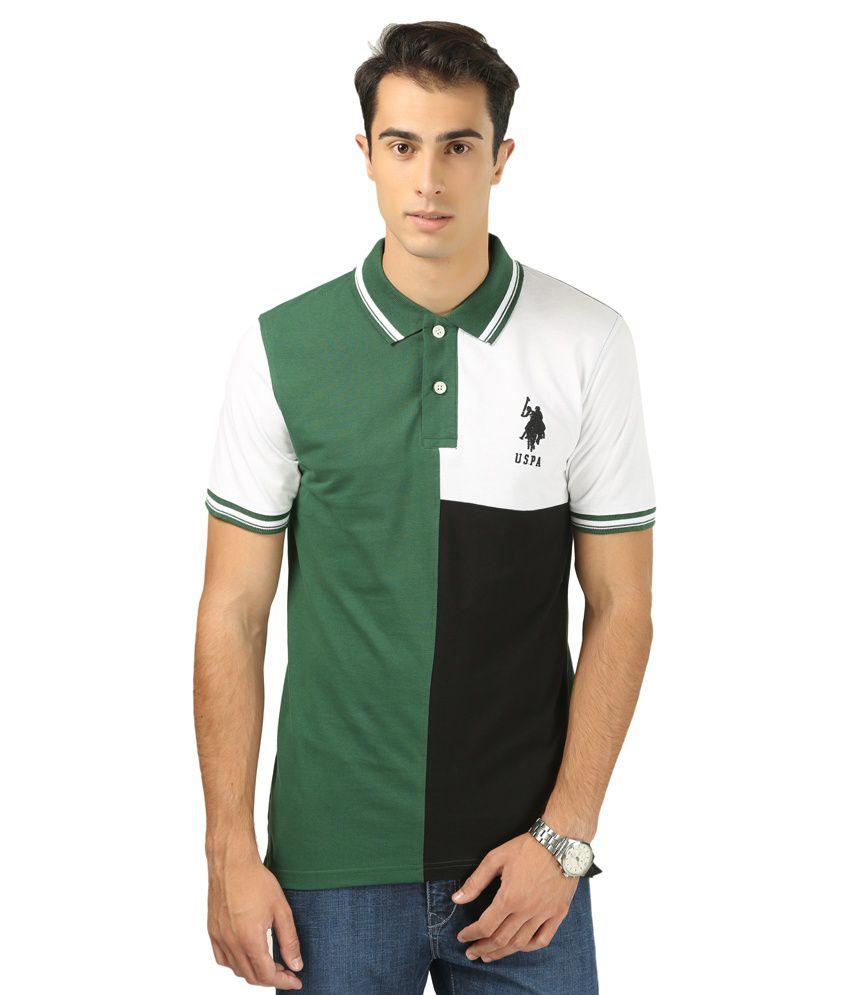 USPA Multicolour Cotton T-Shirt