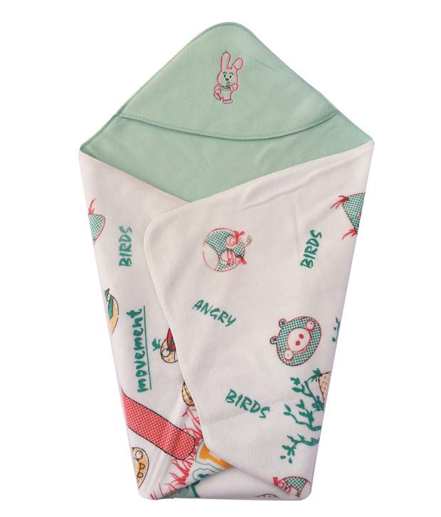 Cute Baby Green Cotton Angry Birds Baby Wrap