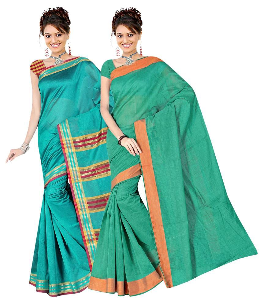 Indianefashion Multicolour Poly Cotton Pack of 2