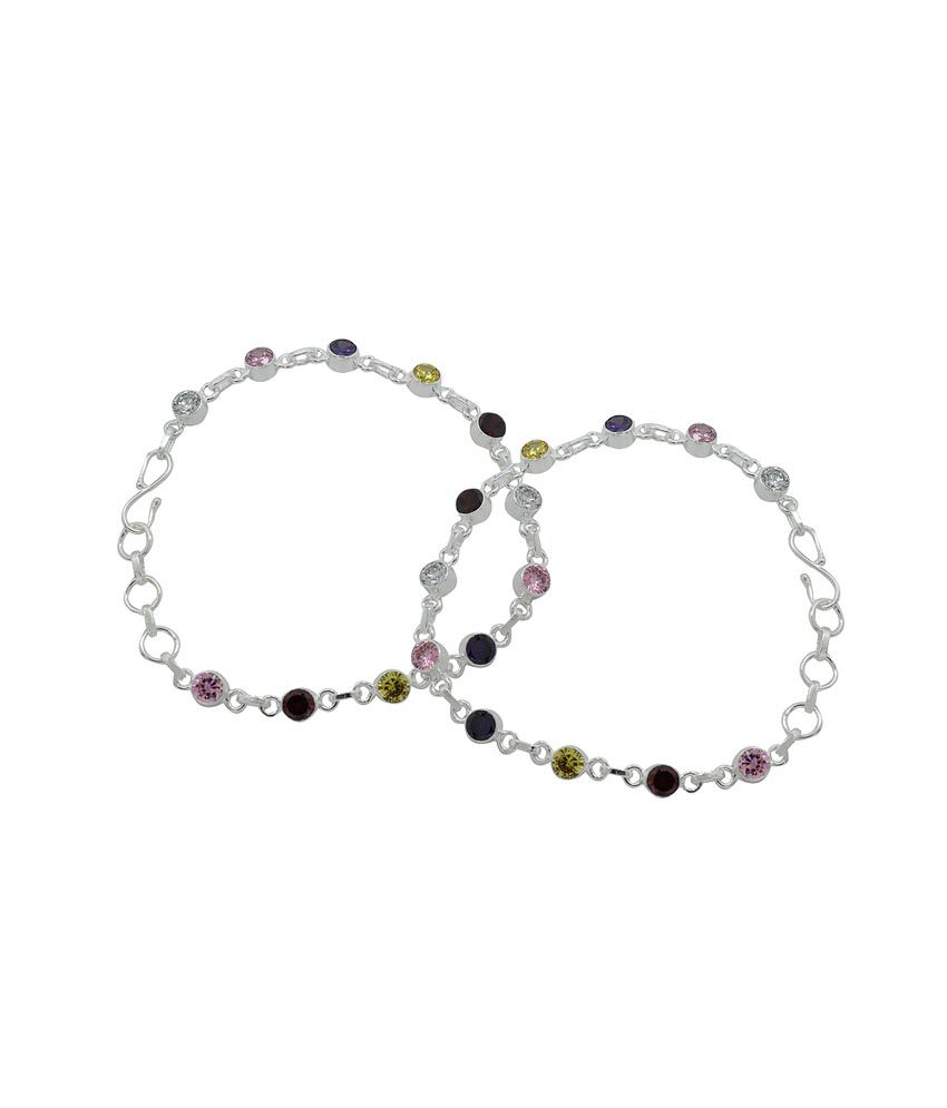 Pehchan Multicolour Daily Wear Pair Of Anklets