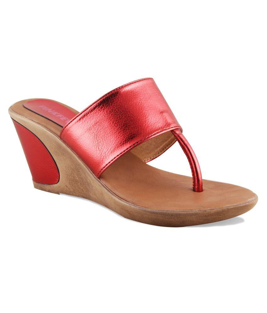 Pink Fever Red Heeled Slip-on