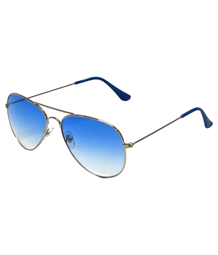 Red Knot Silver Frame Metal Aviator Sunglasses