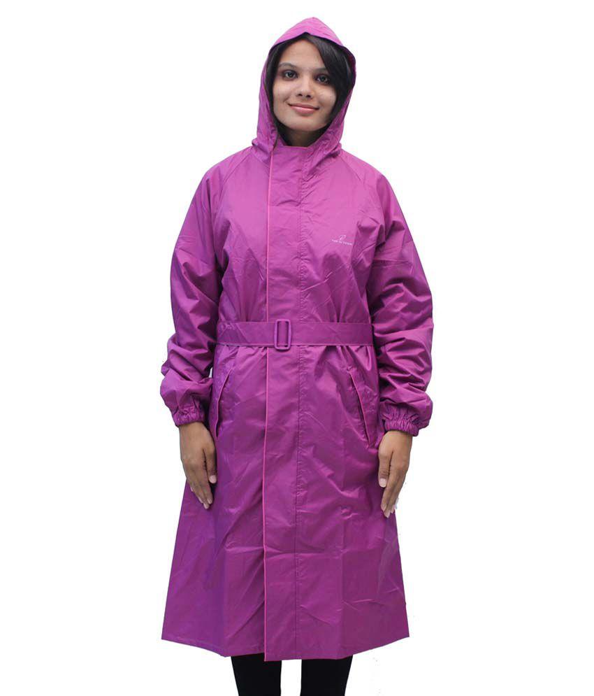 Romano Women'S Purple Waterproof Rain Overcoat