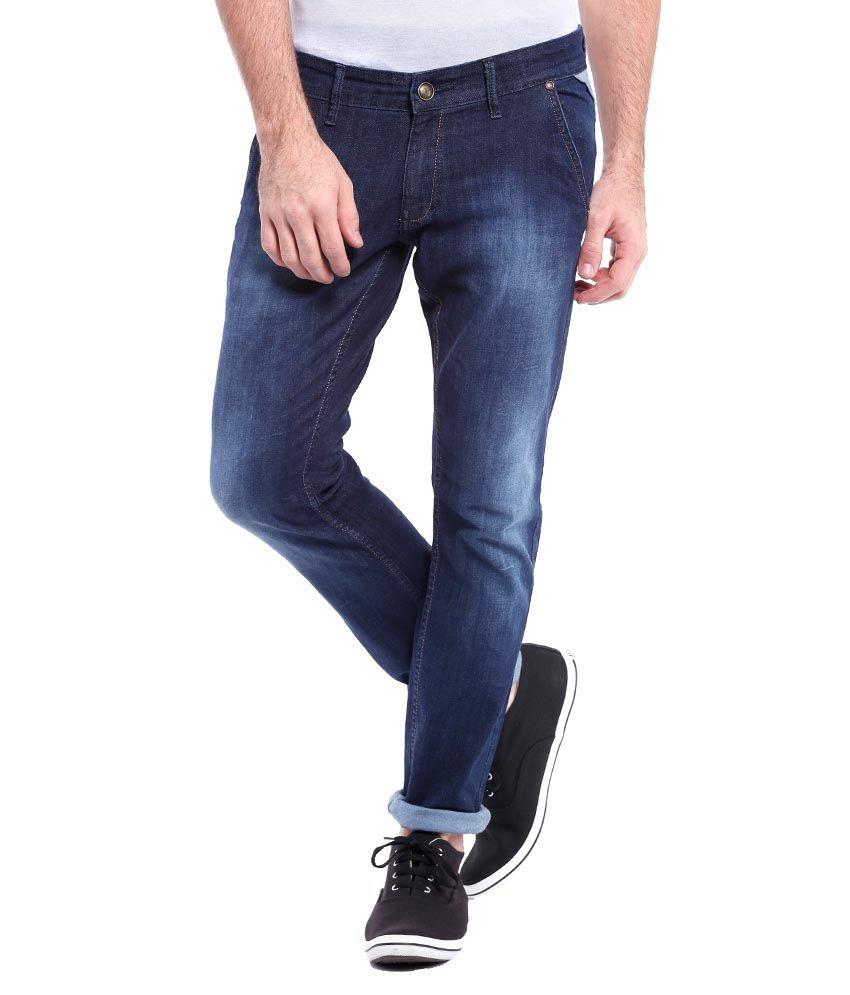 Skie Studio Dark Blue Slim fit Jeans