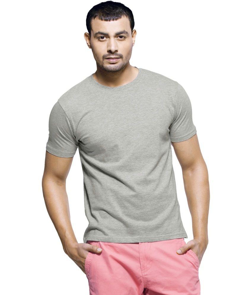 Tirupur Export Garments Grey Cotton T-Shirt