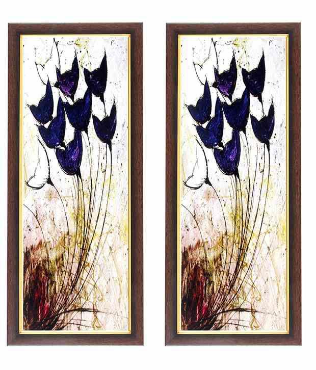 Wens Blue Flower In Air Wall Art (Buy 1 Get 1)