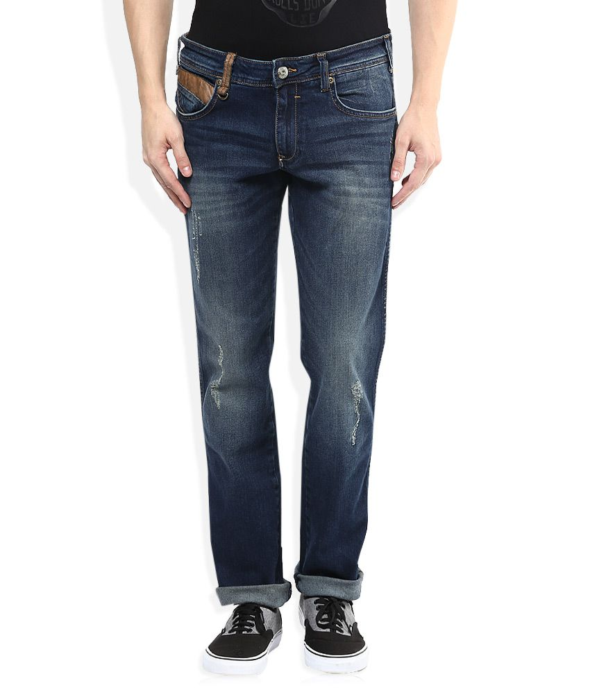 Wrangler Blue Stone Wash Regular Fit Jeans