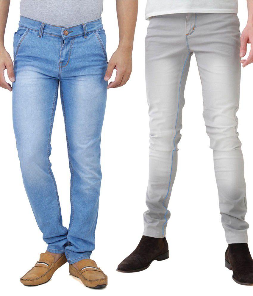 Haltung Multicolour Cotton Blend Jeans - Combo Of 2