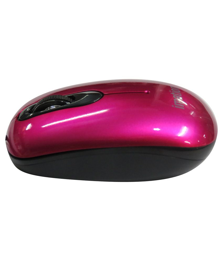 Imation PCM-80 USB Mouse Blue & Pink (USB Wired)