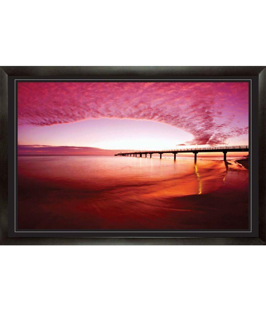 Mataye Graphics Sunset Scenery Acrylic Nature Painting