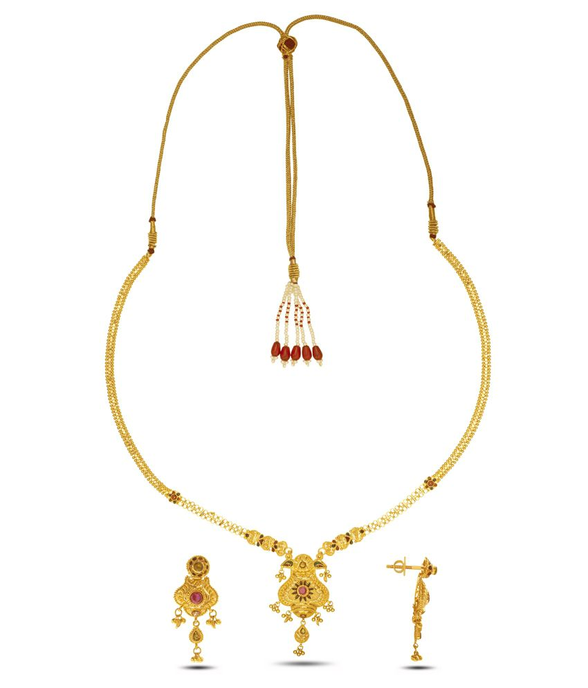 P.N.Gadgil Jewellers 22 Kt Gold Necklace Set