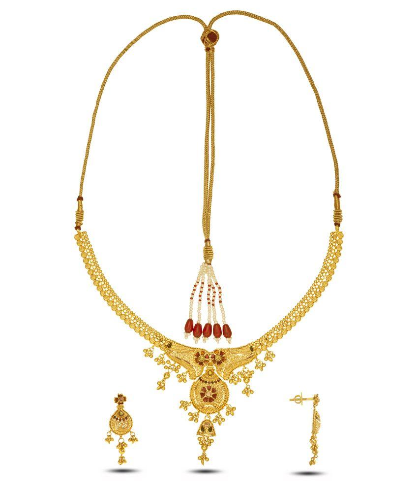 P.N.Gadgil Jewellers 22 Kt Gold Necklace Set