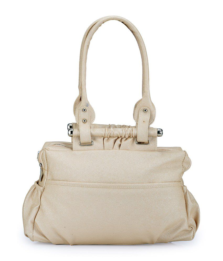 Bags Craze White Two Compartments Shoulder Bag