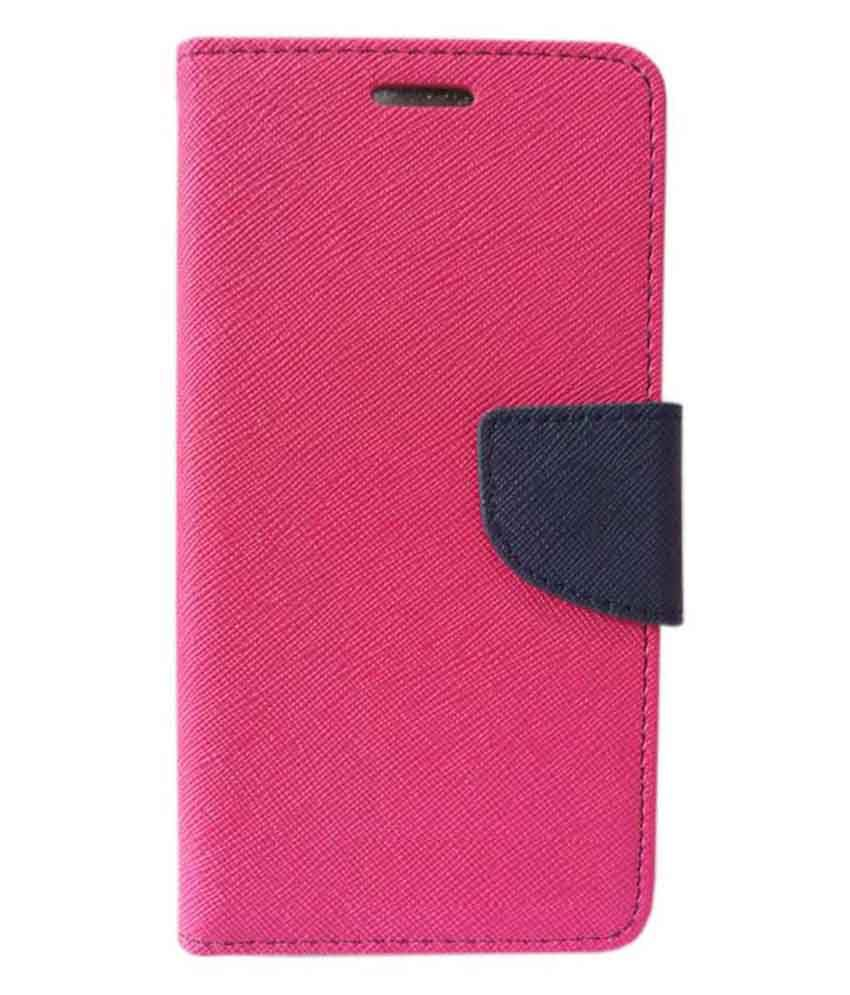 new styles bcf3f fca86 Coverage Flip Cover for Microsoft Lumia 540 - Pink and Blue
