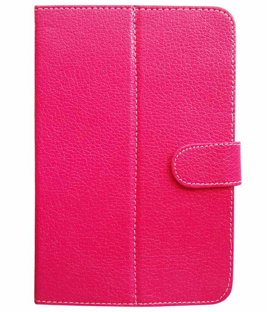 Fastway Flip Cover For Ambrane A 3-7 Plus -Pink