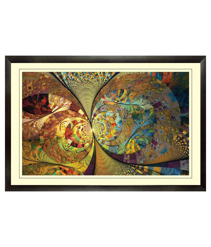 Mataye Graphics Multicolor Floral Paintings with Frame