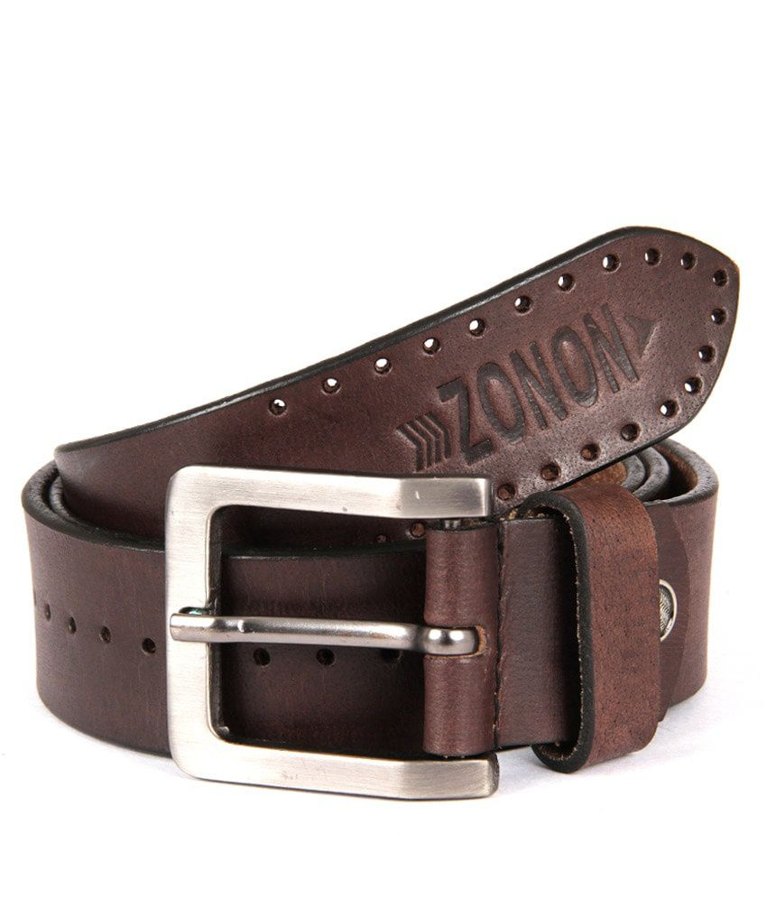 Zonon Brown Casual Belt