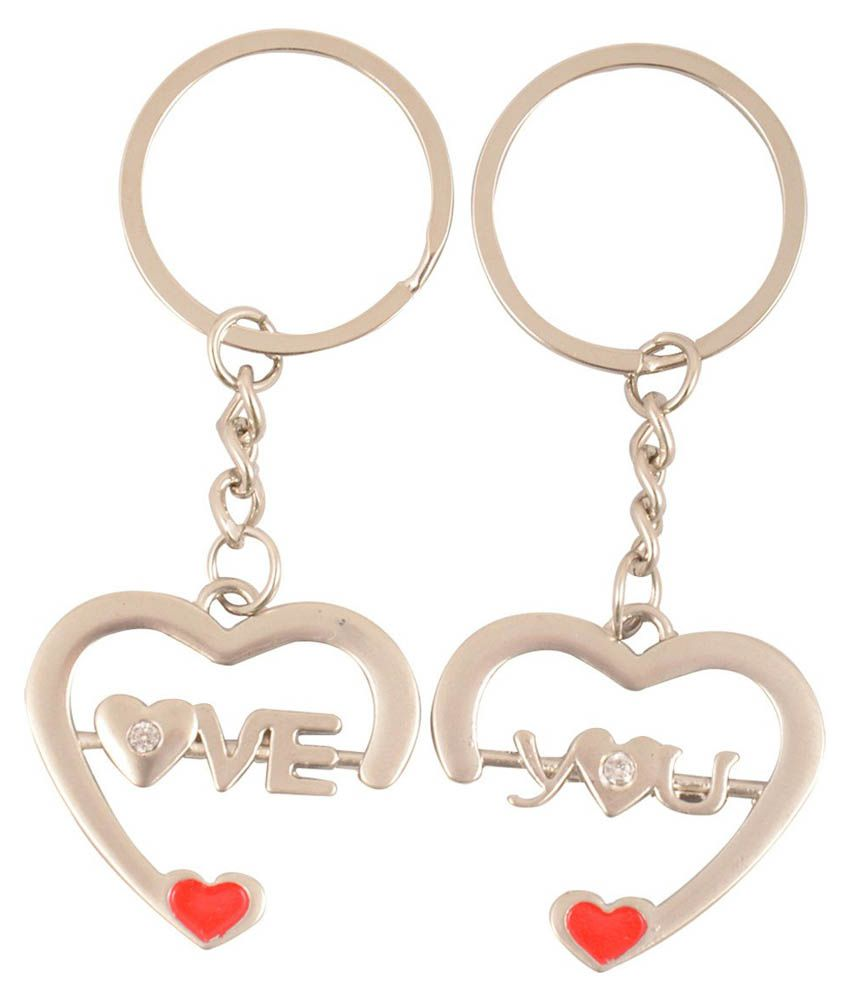CTW Metal Couple Love You Heart Keychain Keyring  Buy Online at Low Price  in India - Snapdeal 5028d4ceab