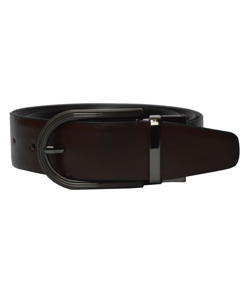 Dennison Black and Brown Leather Belt