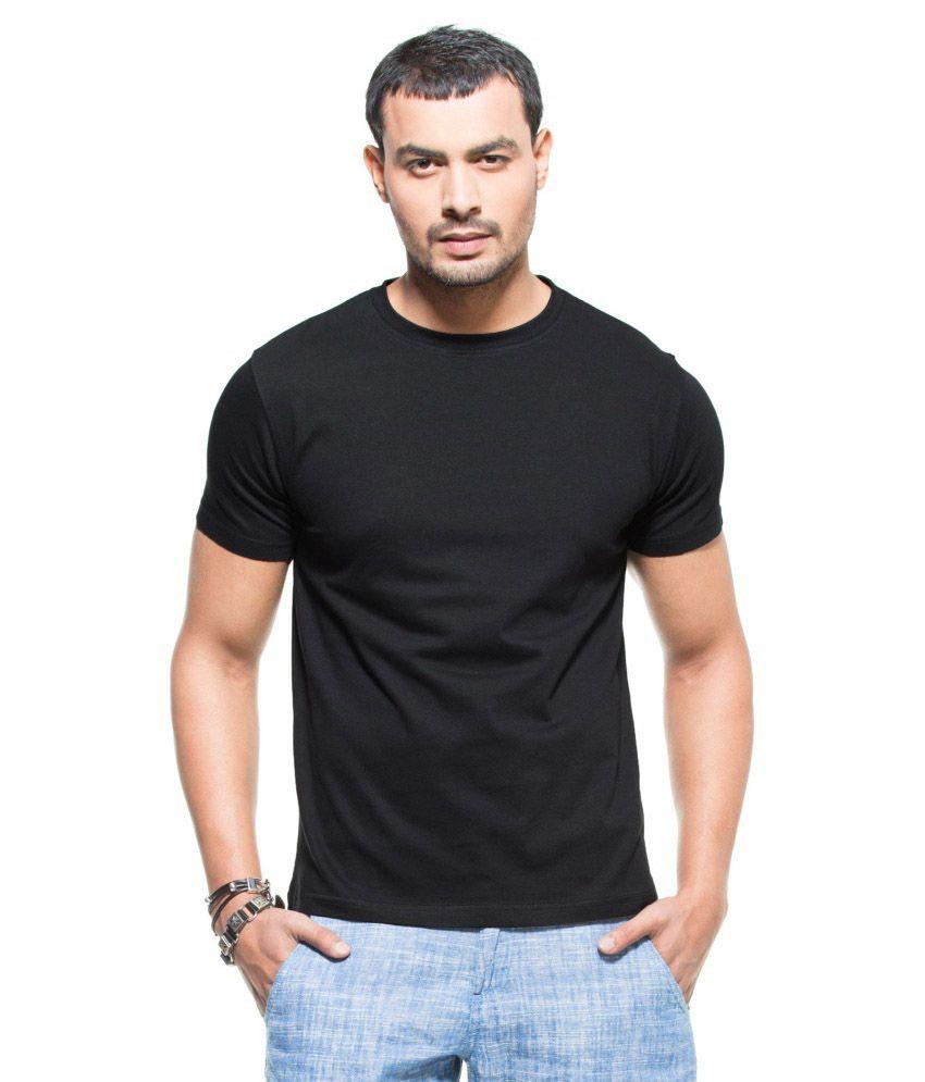 Fabivo Black Cotton T Shirt